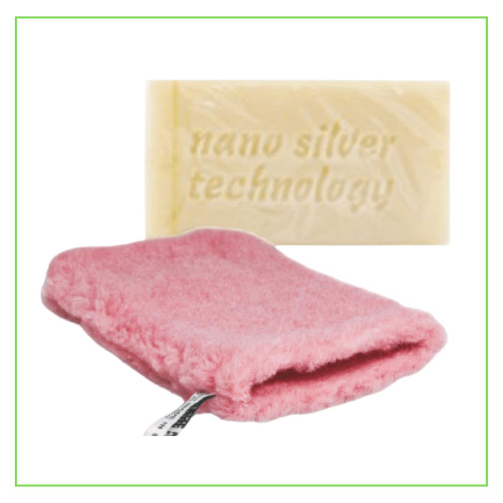 Raypath nano silver rinkinys su muilu kūnui ir pirštine
